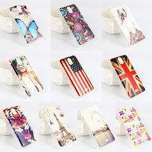 Custom color painting TPU soft case flags butterfly pattern phone case for HuaWei Y360