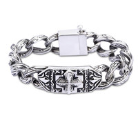 china factory 316l stainless steel jewelry surgical 316L stainless steel personalized vintage cross bracelet wholesale in ali