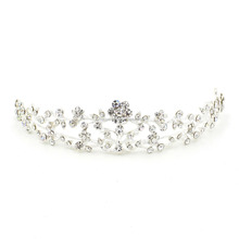 New Cute Rhinestone Corona Diadem Hairwear Wedding Girls Princess Crown Tiara