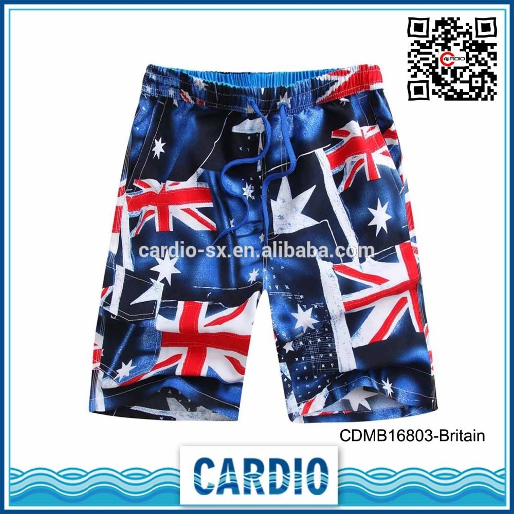 MEN'S custom sublimation quick dry boardshort flag swimwear men