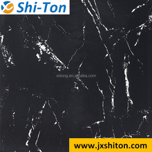 Heat Resistant cement black Glazed Polished Porcelain Floor Tile