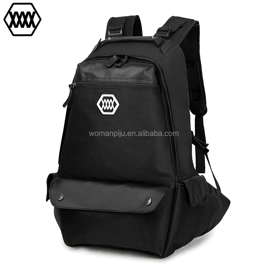Wholesale black foldable oxford travel backpacks hiking backpack