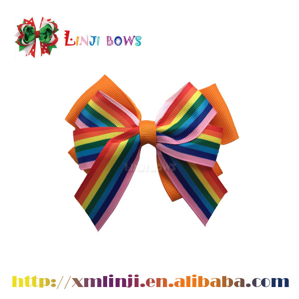 2016 craft ribbon bows girl's hair bows for wholesale