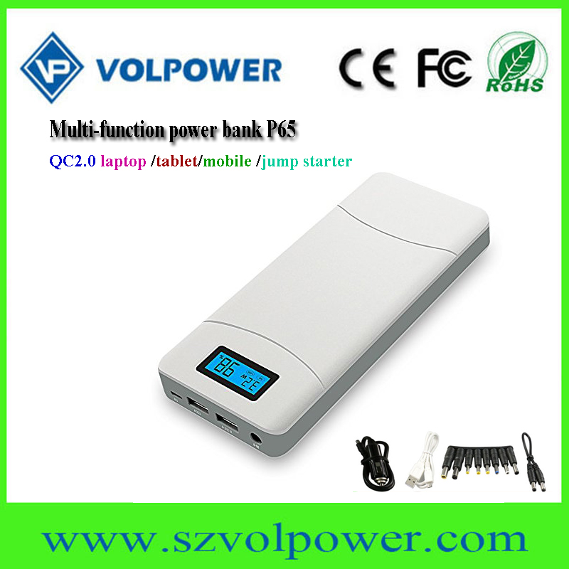 New products 2017 P65 19v power bank with LCD Display QC2.0 fast charge function