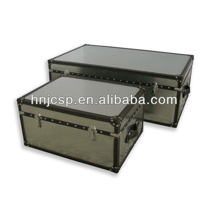 Stainless steel rectanglar storage trunk