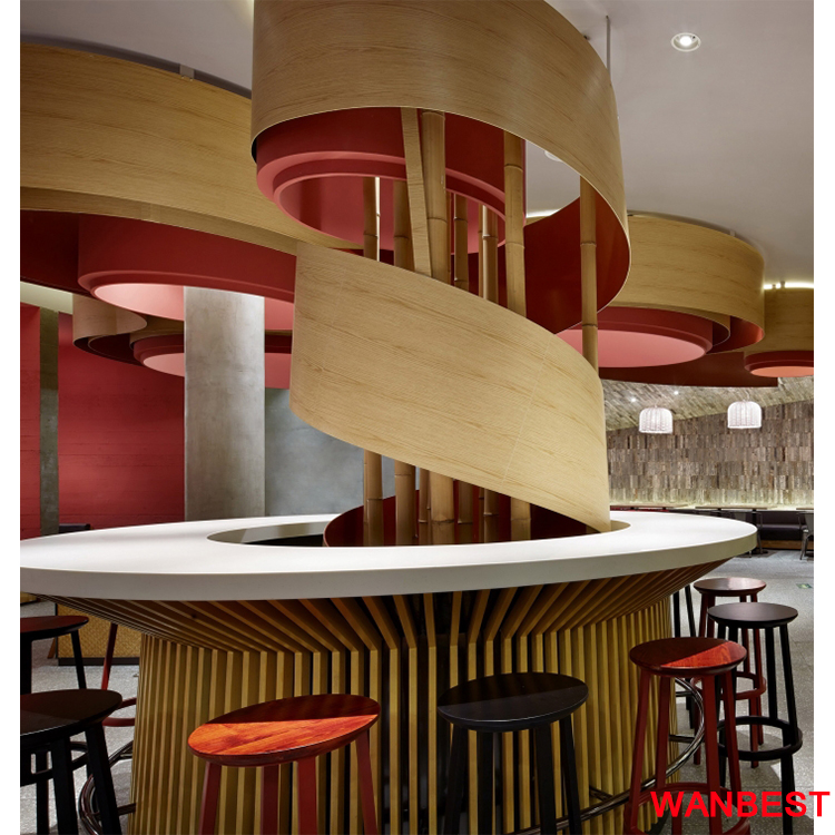 Crazy Design White Artificial Stone Round Restaurant Coffee Pub Bar Counter Top for Sale