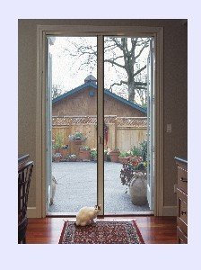 Out swing door retractable screens buy retractable for Retractable screen door for outswing door