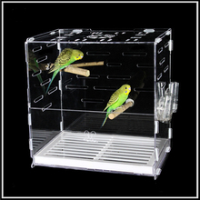 Wholesale acrylic design decorative bird breeding cage