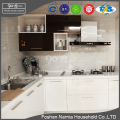double color PET veneer prefab import mdf kitchen cabinet with new design handle