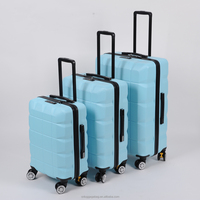 alibaba china supplier hot new baggage product for 2015 !!! ABS PC wheeled zipper luggage trolley