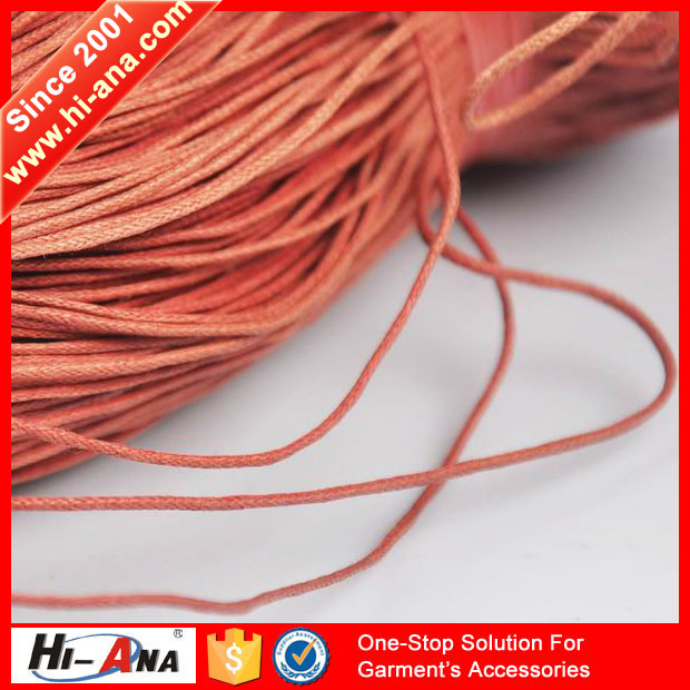 hi-ana cord2 Your one-stop supplier Ningbo waxed polyester cord 1mm