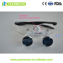 Portable LED Headlight 3.5X Dental Magnifying Glasses | Binocular Surgical Loupes Frames | Medical Glasses Frame
