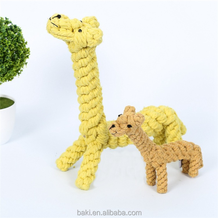 Dog Toys Handmade Pet Cotton Rope Giraffe Knitting Cat Toys