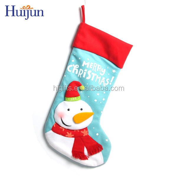 2017 New design snowman stocking hanging wall art decoration christmas