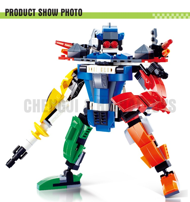 Plastic intelligent building blocks robot brick toys robot toy