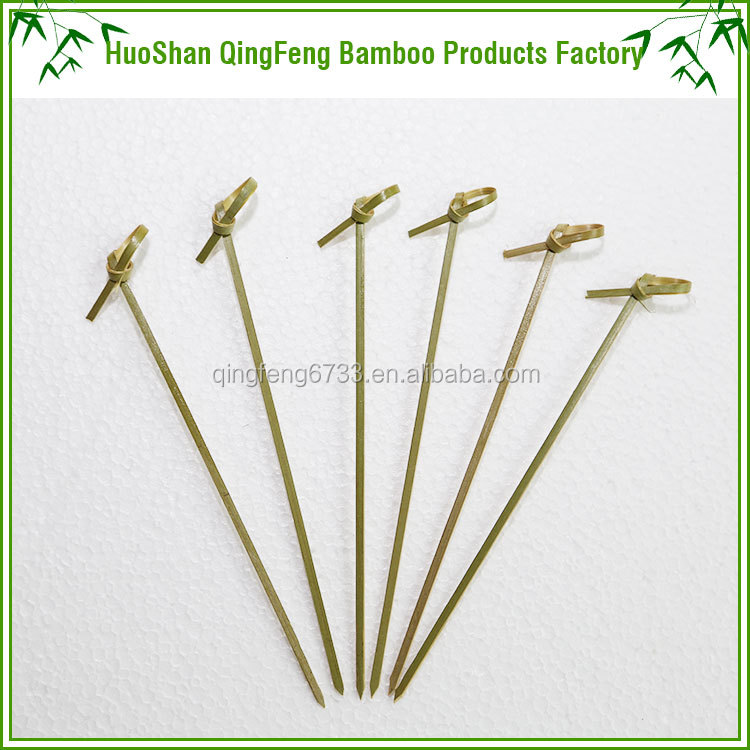 Wholesale Knotted bamboo fruit jelly pick/sticks/skewer