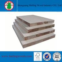 Okoume Surface Material and Double-Sided Sanding Surface Finishing Paulownia Wood Block Board
