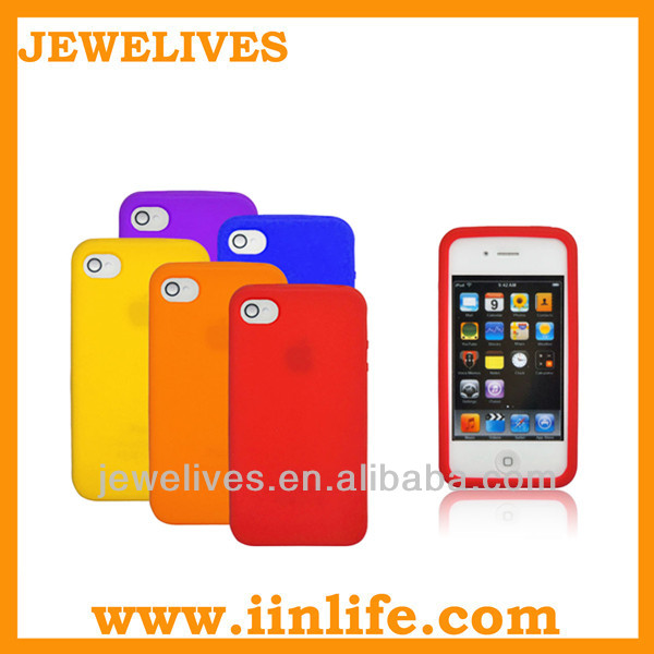 Fashion cheap silicone phone case for iphone 4 case