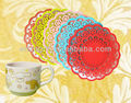 lace soft PVC coaster, cheap decorative coasters and placemats