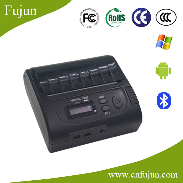Mini Pocket 90mm/s Ticket Printing Speed Bluetooth Android Smartphone / Computer Thermal Bill Printer 8002 With LCD Display