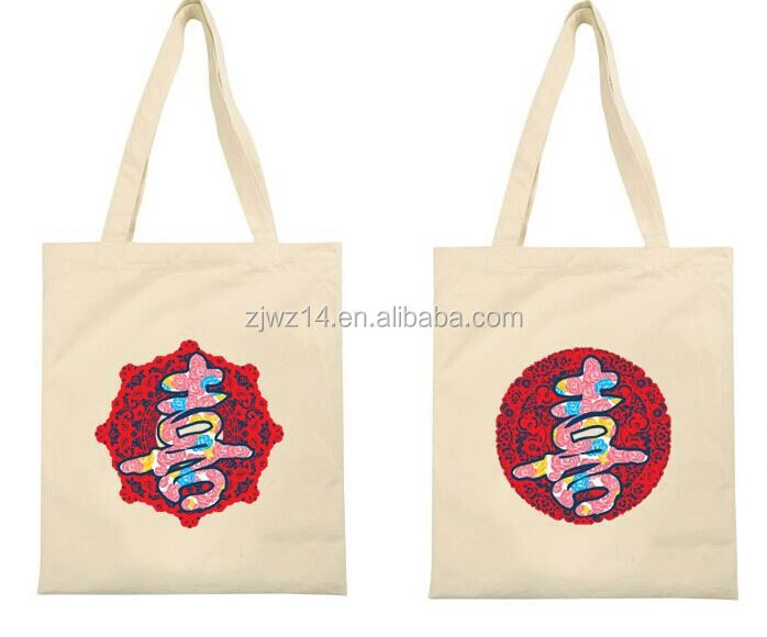 cotton ethnic bag/ custom printed canvas tote bags/ canvas reusable shopping bag
