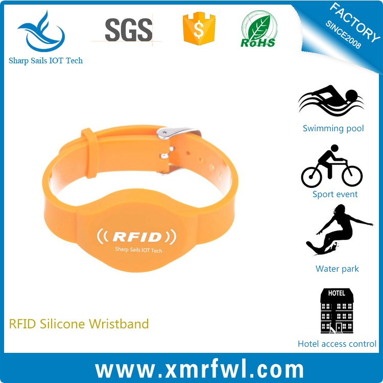 High quality waterproof RFID silicone armband for identification