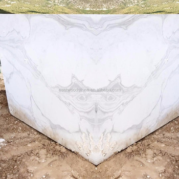 Volakas white marble book match slab for bathroom walls