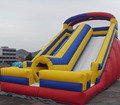 inflatable slide with tube/yellow inflatable slide