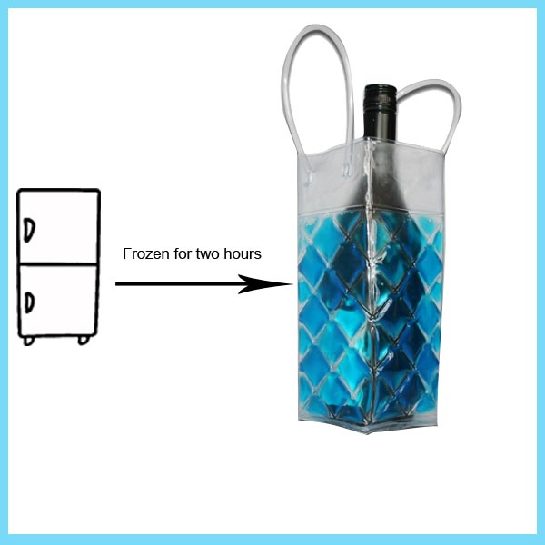 Gel Ice Pack Bottle Cooler Wine Cooler Wrap For Cold Use