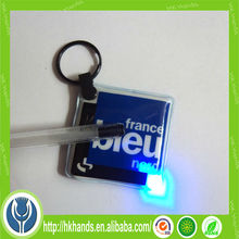 Shenzhen factory custom plastic mini led keychain / led flashlight keychain / Pvc LED keychain