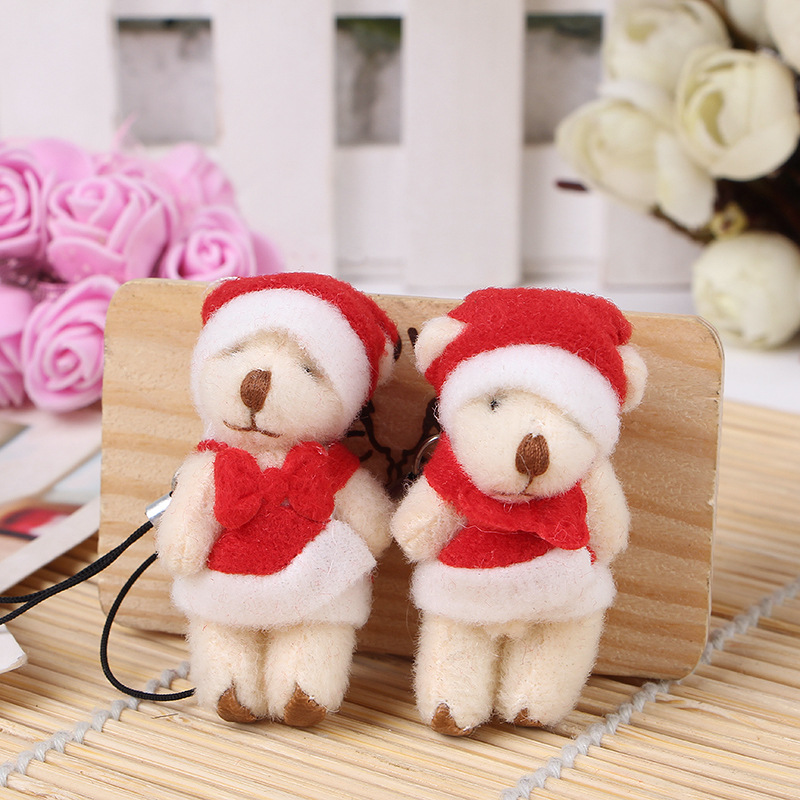 small plush teddy bear plush keychains for christmas