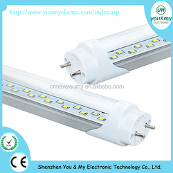SMD 2835 Double Row T8 led tube light 1200mm 24W 4ft, AC 85-265V