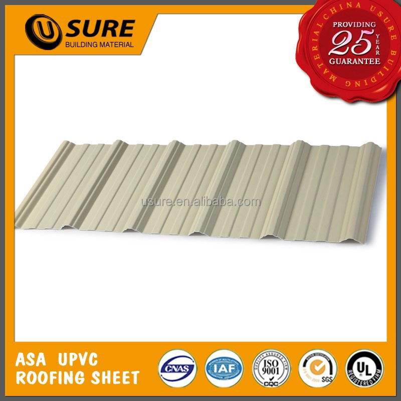 waterproof sole coated deco pvc roof sheet