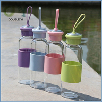 Custom colorful drinking glass cup / glass bottle for drinking