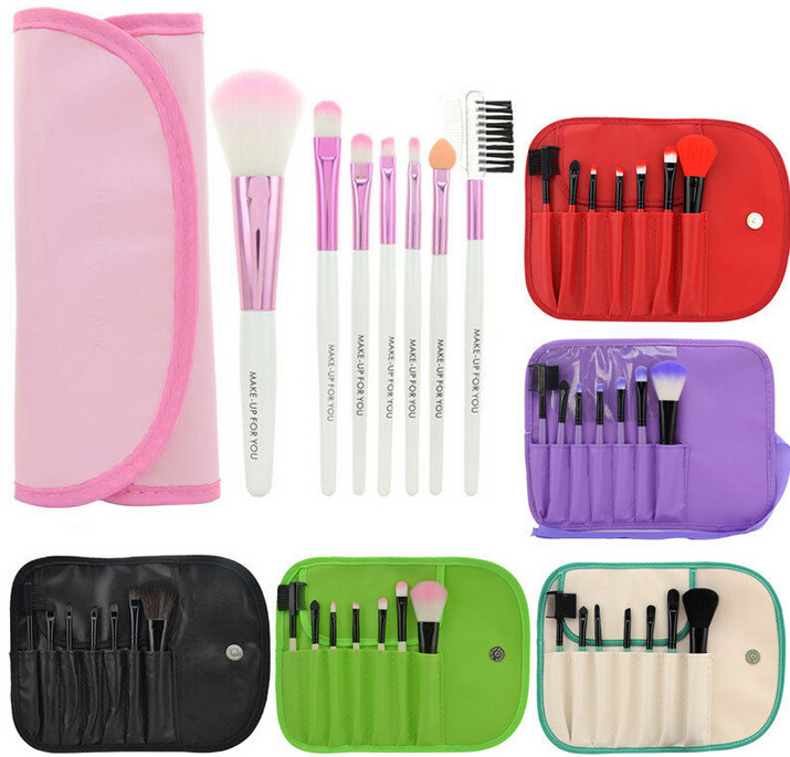 Professional 7pcs Custom Logo Makeup Brushes Make Up Brush Set