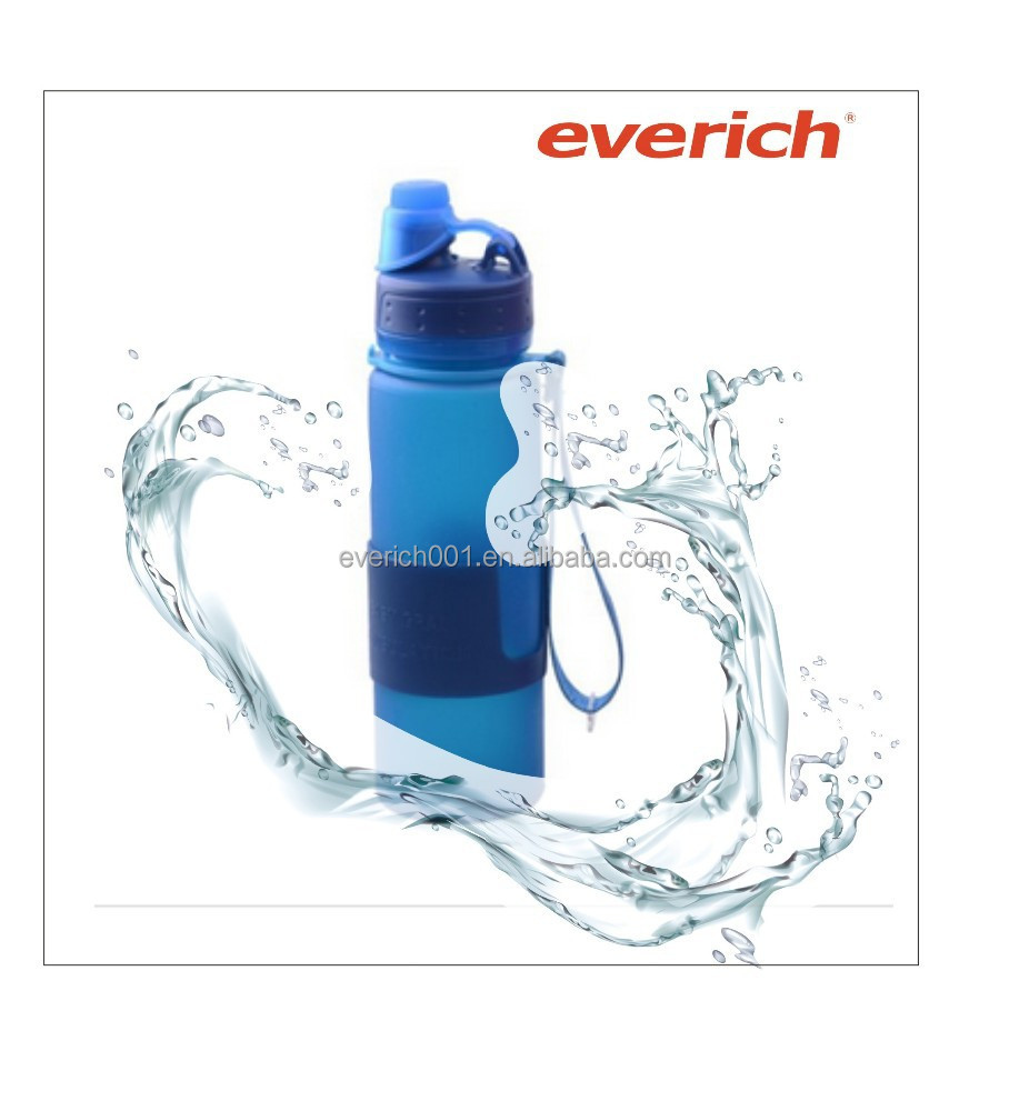 cheap wholesale silicone travel water bottle, foldable water bottle hot selling