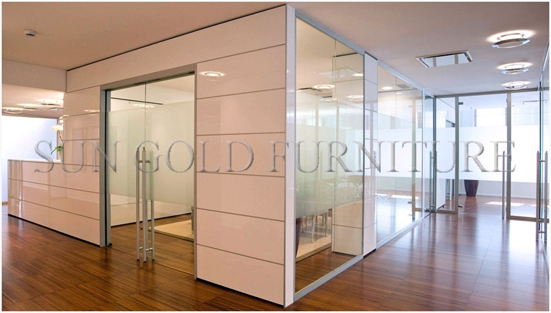 Removable Partition Walls : Moden sound proof divider clear glass removable office