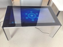 for game/advertising/exhibition LCD interactive touch screen digital signage table