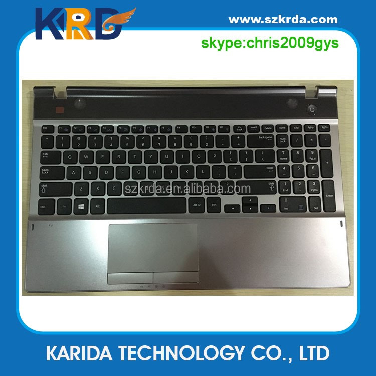 Laptop keyboard with topcase palmrest for Samsung NP350E5C 350E5C 550P5C NP550P5C US keyboard