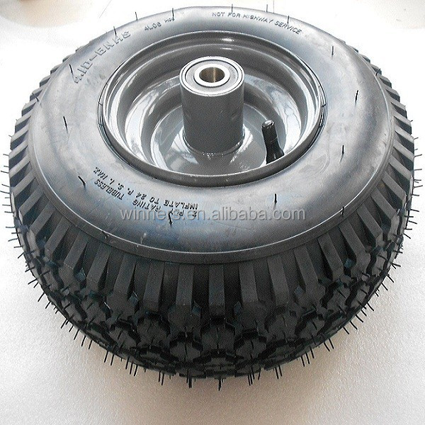 Beach cart wheel tubeless tire 4.10-6 golf cart wheel