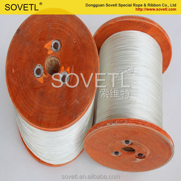 professional manufacturer fiber glass braided round rope for thermal insulation