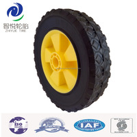 200mm solid rubber wheels for food trolley, grocery cart, trolley moving