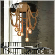 Noedic modern fashion simple tire hemp rope industrial pendant lamp/light