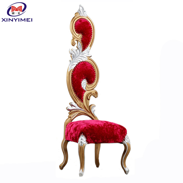 XYM Furniture professional antique king throne chair for wedding