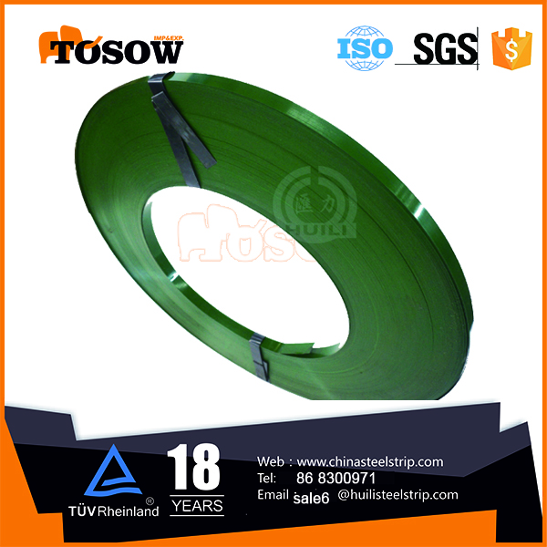 Q235 cold rolled green Measuring Tape Steel Strapping Supplier
