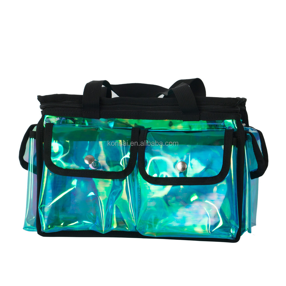 One More Side Bag Clear PVC Metal Zipper Makeup Cosmetic Bag
