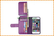 New Design Fashion Wallet Genuine Leather Case for iPhone 6 6 Plus