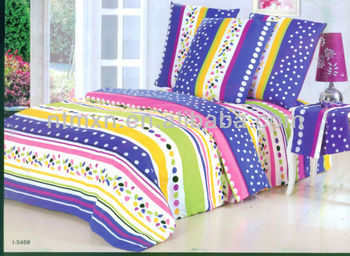 2014 new product wholesale classical stripe print duvet cover set hotsale