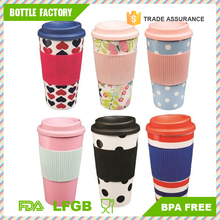 Takeaway Lid 450ml 16oz New Thermal Insulated Cup Coffee Plastic Travel Mug
