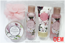 Promotional Fashion Bath Sets/ Wooden Bath Sets / Shower Gel Bath Gift Set Wholesale